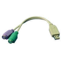 Logilink Adapter USB to PS/2 x2 : 2x Mini DIN 6-pin FM