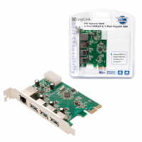 Logilink 3x USB 3.0 and 1x Gigabit LAN PCIe